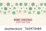 christmas pattern vector. snow... | Shutterstock .eps vector #765973489