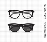 a set of stylish hipster... | Shutterstock .eps vector #765973675