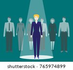 searching talented employees.... | Shutterstock .eps vector #765974899