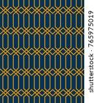 seamless geometric pattern. | Shutterstock .eps vector #765975019