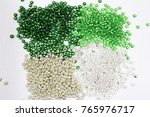 beads on the white background.... | Shutterstock . vector #765976717