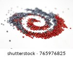 beads on the white background.... | Shutterstock . vector #765976825