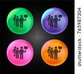 protest crystal ball design... | Shutterstock .eps vector #765987304