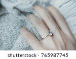 close up of an elegant... | Shutterstock . vector #765987745