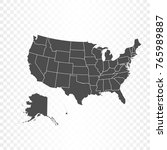 united states of america map...   Shutterstock .eps vector #765989887