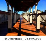 port wood deck on a sunny day | Shutterstock . vector #765991939