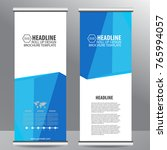 roll up business brochure flyer ... | Shutterstock .eps vector #765994057