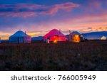 Illuminated Yurt In Twilight B...