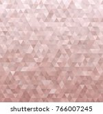 rose gold geometric low poly... | Shutterstock .eps vector #766007245