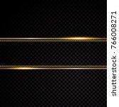 vector golden line banner.... | Shutterstock .eps vector #766008271