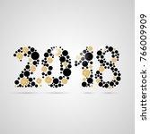 happy new year 2018 design.... | Shutterstock .eps vector #766009909