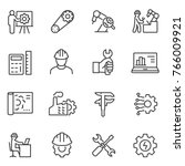 engineering icons set. engineer ... | Shutterstock .eps vector #766009921