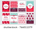 vector set of christmas... | Shutterstock .eps vector #766011379