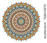 ethnic ornamental mandala.... | Shutterstock . vector #766013074
