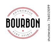 authentic bourbon vintage stamp ... | Shutterstock .eps vector #766015099