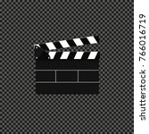 clapperboard isolated on... | Shutterstock .eps vector #766016719