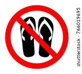 forbidden sign with slippers... | Shutterstock .eps vector #766019695