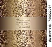 vintage baroque wedding... | Shutterstock .eps vector #766021039