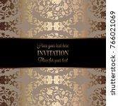 vintage baroque wedding... | Shutterstock .eps vector #766021069