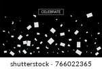 black and white tinsel rich... | Shutterstock .eps vector #766022365