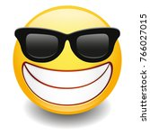 sunglasses laughing expression...   Shutterstock .eps vector #766027015