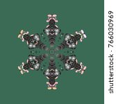 christmas snowflake vector | Shutterstock .eps vector #766030969