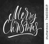 merry christmas lettering on... | Shutterstock .eps vector #766033819