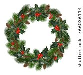 christmas decorations with fir...   Shutterstock .eps vector #766036114