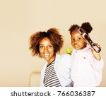 adorable sweet young afro... | Shutterstock . vector #766036387