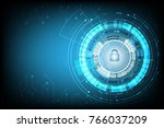 cyber security  with lock and... | Shutterstock .eps vector #766037209