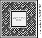 vintage retro frame in art deco ... | Shutterstock .eps vector #766041085