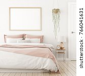 interior poster mock up with... | Shutterstock . vector #766041631