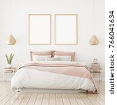 interior poster mock up with... | Shutterstock . vector #766041634