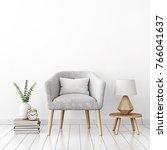 livingroom interior wall mock... | Shutterstock . vector #766041637