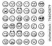 Set Of Emoticons  Set Of Emoji...