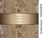 vintage baroque wedding... | Shutterstock .eps vector #766043839