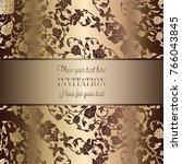 vintage baroque wedding... | Shutterstock .eps vector #766043845