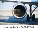 aircraft turbine  close up at... | Shutterstock . vector #766047649