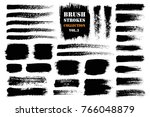 brush strokes text boxes.... | Shutterstock .eps vector #766048879
