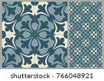 arabic patter style tiles for...   Shutterstock .eps vector #766048921