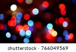 out of focus multicolored... | Shutterstock . vector #766049569