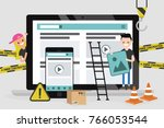 web design and development.... | Shutterstock .eps vector #766053544