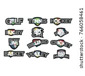 logo sport symbol vector | Shutterstock .eps vector #766058461