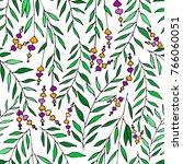 vector floral pattern in doodle ... | Shutterstock .eps vector #766060051