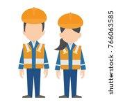 civil engineer  construction...   Shutterstock .eps vector #766063585