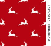 seamless winter pattern with... | Shutterstock .eps vector #766071577