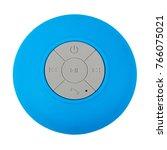 mini blue waterproof bluetooth... | Shutterstock . vector #766075021
