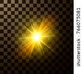 brilliant star shining. design...   Shutterstock .eps vector #766075081