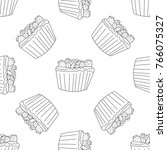 cupcake seamless pattern in... | Shutterstock .eps vector #766075327