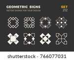 set of eight minimalistic... | Shutterstock .eps vector #766077031